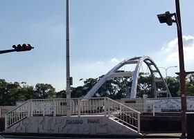 アルバカーキ橋の前